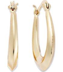 "giani bernini small 18k gold over sterling silver tapered hoop earrings, 1"""