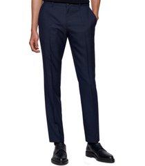boss men's micro-pattern slim-fit trousers