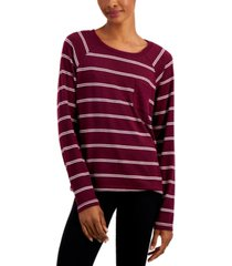 alfani hacci sweater knit pajama top, created for macy's