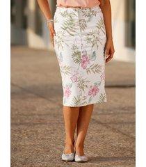 kjol m. collection benvit::flerfärgad
