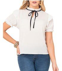 blusa amparo blanco para mujer croydon