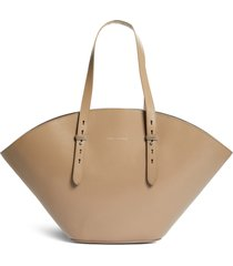 brunello cucinelli monili leather tote - beige