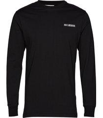 casual long sleeve tee t-shirts long-sleeved svart han kjøbenhavn