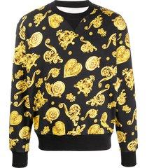 versace jeans couture printed sweatshirt - black