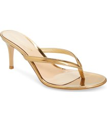 women's gianvito rossi thong sandal, size 9us / 39eu - metallic