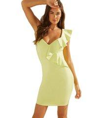 vestido sl daniela dress amarillo guess