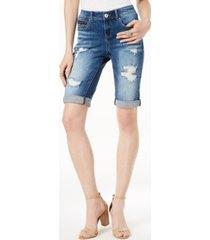 i.n.c. ripped bermuda shorts, created for macy's