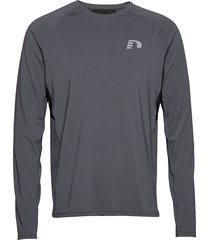 men's ls tee t-shirts long-sleeved grå newline