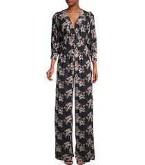iro women's mexi printed jumpsuit - black - size 34 (2)