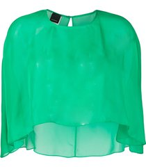 pinko sheer cape top - green