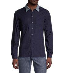 john varvatos star u.s.a. men's reversible shirt - indigo - size xxl