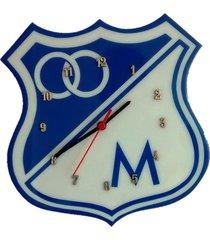 reloj de pared equipos de futbol – azul y blanco