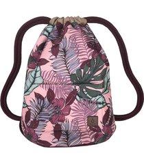 dark pink flowers dwustronny plecak sack it!