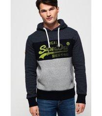 superdry vintage-like logo 1st panel hoodie