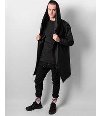 płaszcz hoodie black oversize on
