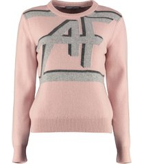 alberta ferretti virgin wool and cashmere pullover