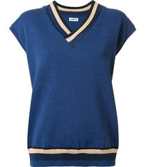coohem knitted good summer vest - blue