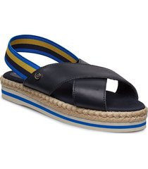 lauryn 9c shoes summer shoes flat sandals blå tommy hilfiger