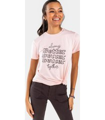better together tee - pink