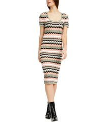 almost famous juniors' chevron midi sweater dress