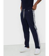gant d1. gant stripe sweat pants byxor blue