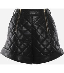 self-portrait high-waisted quilted shorts