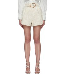 'clifton' belted shorts