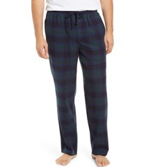 men's nordstrom flannel pajama pants, size medium - blue