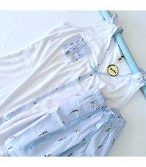 pijama dama - short y blusa -talla m