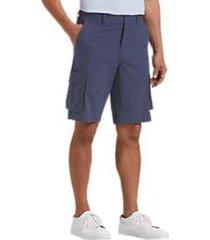 joseph abboud blue plaid modern fit cargo shorts