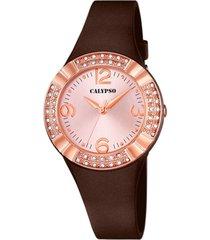 reloj trendy chocolate calypso