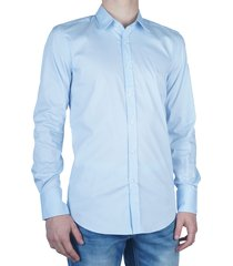 antony morato basic slimfit shirt light blue blauw