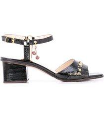 marc jacobs x new york magazine the charm sandals - black