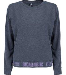 blusão oxer olímpia - feminino - cinza esc mescla