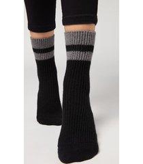calzedonia women's non-slip socks woman black size s/m