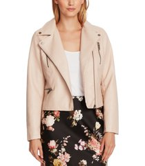 vince camuto faux-leather moto jacket