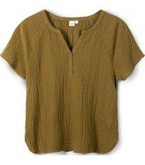 blusa manga corta verde gap