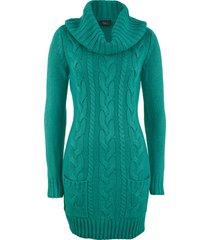 abito in maglia a collo alto (petrolio) - bpc bonprix collection