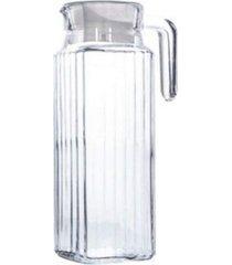 jarra de vidro 1,100 l com tampa  - elite imports - incolor - dafiti