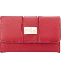 billetera mediana mps rojo esencial