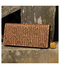 paper and cotton wallet, 'fishtail' (thailand)