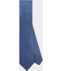 tommy hilfiger men's slim wid microcheck tie royalblue/white -