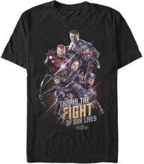 marvel men's avengers endgame fight of our lives short sleeve t-shirt