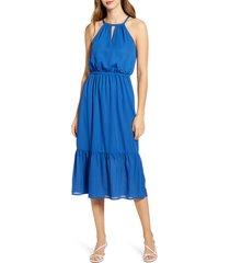 women's gibson x international women's day living in yellow halter midi dress, size small - blue