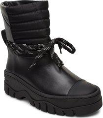 biker shoes boots ankle boots ankle boots flat heel svart ganni