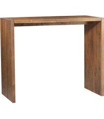 balcão para cozinha flauer madeira maciça rustic brown - gran belo