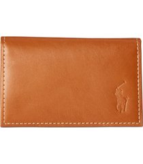 polo ralph lauren men's burnished leather slim id card case