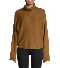 vince women's dolman-sleeve turtleneck sweater - light bronze - size xs