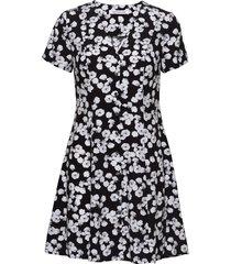 floral ss dress kort klänning svart calvin klein jeans
