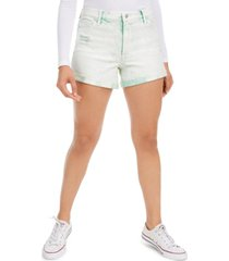 celebrity pink juniors' distressed denim shorts